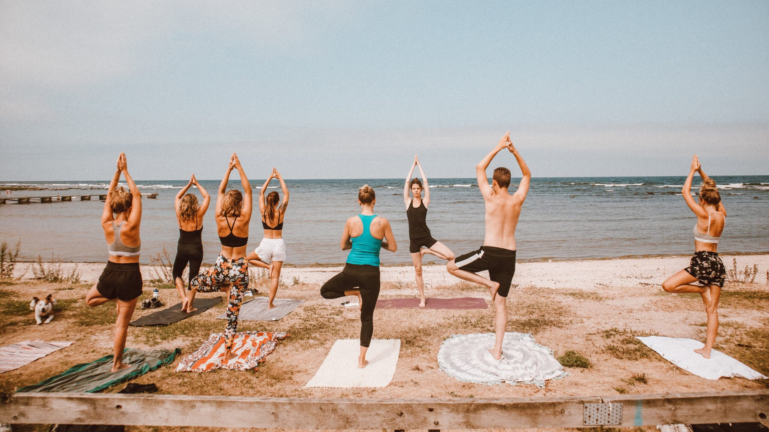 Privat yogainstruktör i grupp